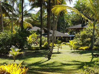 Retreat Xaina MindSpa Oceanfront Villa  inside a palm garden with housekeepers