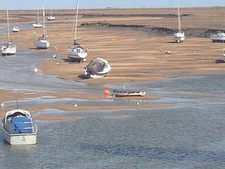Boats at low tide - taken from the balcony