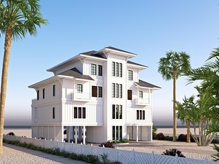 NEW Gulf Front 12bd/12.5 bath home, 'THE PEARL' , Heated Pool w/ elevator.