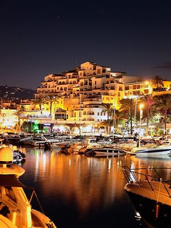 Moraira old town by night