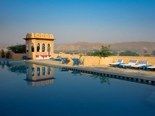 Lavish getaway in a Haveli-style property, with a pool