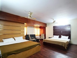 Well-appointed room in a guest house, ideal for a small group