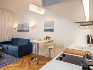 Brand new studio with a charming street view in the heart of Prague!