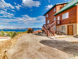 NEW LISTING! Spacious, rustic cabin overlooking Bear Lake w/pool & hot tub