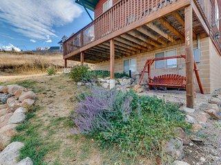 NEW LISTING! Spacious, rustic cabin overlooking Bear Lake w/pool & hot tub