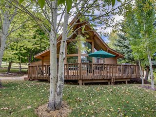 NEW LISTING! Cozy cabin w/access to shared heated pool, hot tub & sport courts