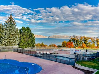 NEW LISTING! Updated condo overlooking Bear Lake with shared pool and hot tub!