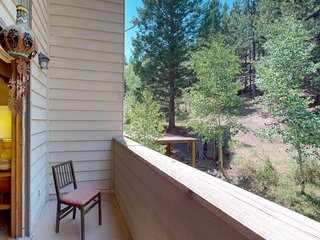 NEW LISTING! Mountain decor condo w/ forest views & easy snowboard access!