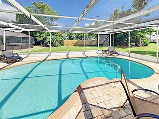 Fall Savings! Exclusive Waterway Access! 2BR w/ Dock & Private Saltwater Pool