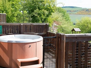 Douglas Fir Lodge with Hot Tub near Cupar, Fife