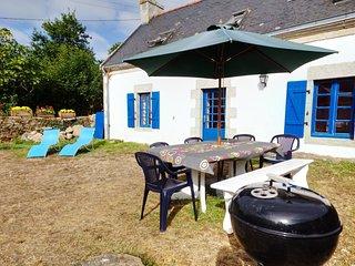 La maison aux volets bleus de Prat An Ilis au Guilvinec