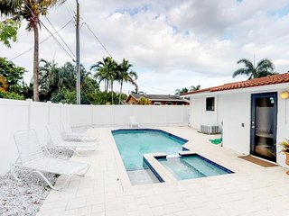 NEW LISTING! Beautiful Getaway with Salt Pool/Hot Tub in exclusive Wilton Manors