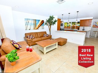 STUNNING★Huge★OASIS★3 BR★Pool★Beach: 7 min