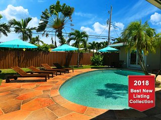 LS-0750 OASIS●HUGE●Stunning●Beach 5 min●Private●Heated Pool●Grill●Sleeps 21!