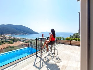 Brand new villa with sea view and private pool in Lefkada