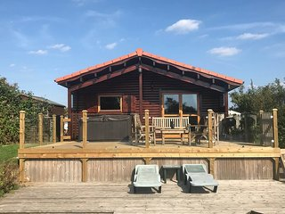 Beautiful Lakeside Log Cabin, Hot Tub, Sleeps 6,Tattershall lake country par