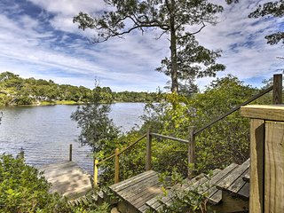 Secluded Waterfront Retreat w/ Private Dock & Deck