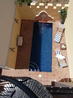 Private pool (...more than a plunge!) from spiral stairs to sun terrace