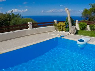 Almond villa - new modern villa with private pool and sea view / sunset