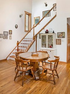 Staircase to master bedroom suite