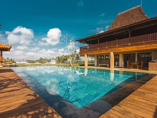 A privately owned luxury 2 bedroom villa, nestled amongst extensive rice fields.