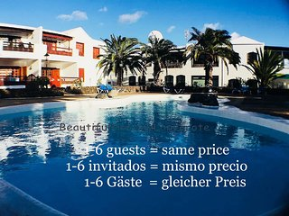 Apartamento Maravillosa con piscina, TV & Wifi y solo 150m de la Playa Jablillo