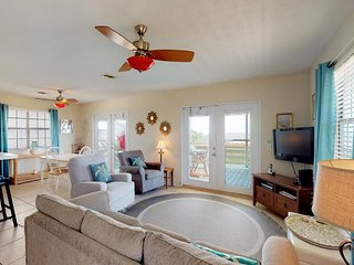 NEW LISTING! Dog-friendly, beachfront home w/panoramic deck, steps from ocean
