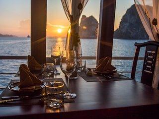 Amazing Halong bay and Bai Tu Long bay excursion on new Renea Cruises 4 star