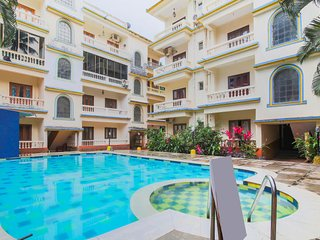 Chic 1 BHK with a pool, near Baga Beach