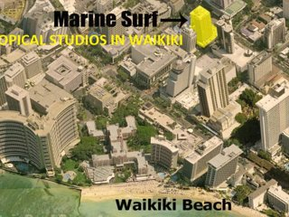 TROPICAL STUDIO  IN WAIKIKI (607) - 5 MIN TO BEACH -  !!! FREE PARKING & WIFI !!