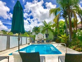 Poolside villa accessed from side of veranda