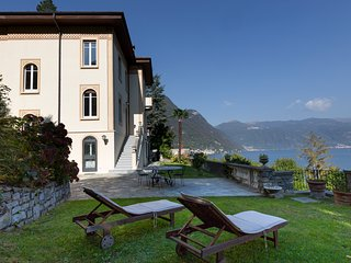 A terrace on Lake Como, Magnificent historic Villa