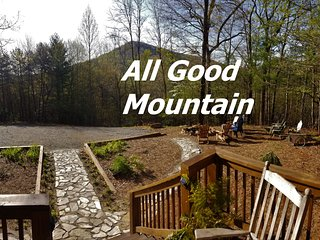 Exceptional mountaintop retreat on 20ac PLUS trout stream only 9mi to Blue Ridge