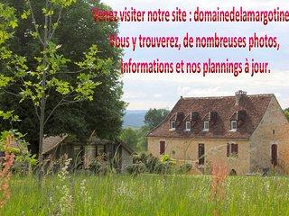 Gite Le Pigeonnier 4pers. Piscine. Domaine de la Margotine. Quercy Périgord noir