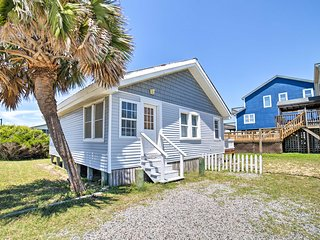 NEW! Oak Island Home w/Deck & Grill-Steps to Ocean