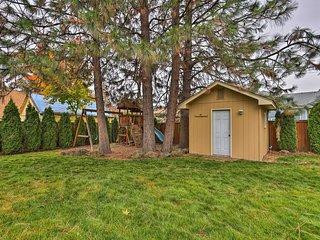 NEW! Chic Spokane Home w/ Deck, Fire Pit & Gazebo!