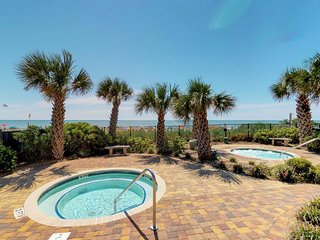 NEW LISTING! Oceanfront condo w/shared pools, sauna & views -walk to beach
