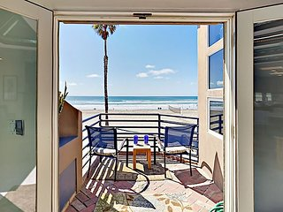 Epic Oceanfront Views - 3BR Boardwalk Beauty w/ Patio, Balcony & Fire Pit