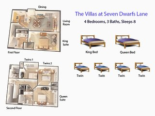 The Seven Dwarfs Welcome You to a Cozy Splendid Townhome| Baby/Kids-Friendly