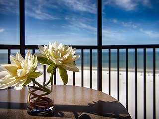 Modern + Bright Suite with Private Balcony | Gorgeous Gulf Views!