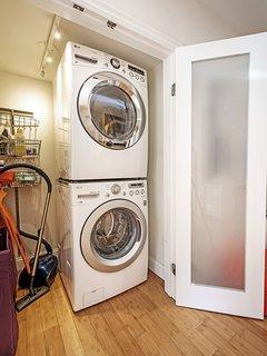 LG premium Washer/Dryer in unit