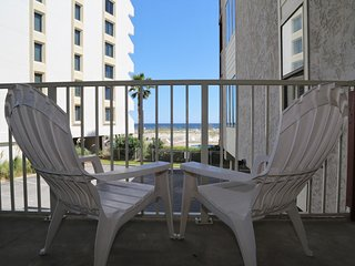 Relax on your balcony while enjoying the sound of the waves and refreshing salt air.