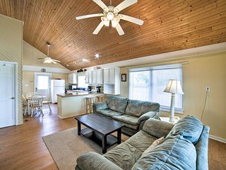 NEW! Pet-Friendly Oak Island Home-Steps to Shore!