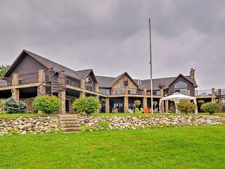 NEW! Lakefront Battle Creek Luxury Estate w/Dock!