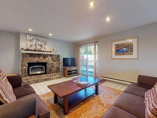 NEW LISTING! Three-story condo w/decks & fireplace - easy walk/bus to slopes
