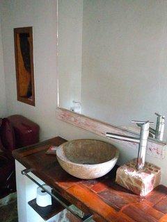 The living area bathroom