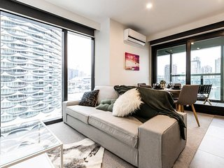 Melbourne Docklands Beautiful Apartment near MARVEL Stadium