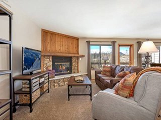 Minutes From it All! Newly Furnished - Mountain Views -  Hot Tub - Gas Fireplace