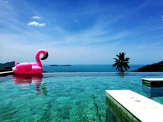 Chaweng hill site private pool 3 BR villa Snow Light