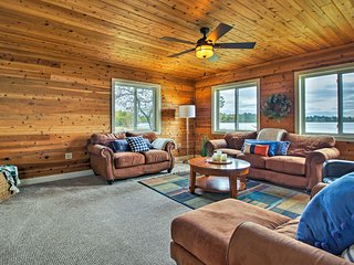 NEW! Lakefront Solon Springs Cabin w/Private Dock!